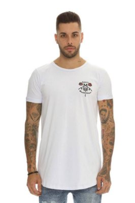 Camiseta Longline Scorpion White - Haterz