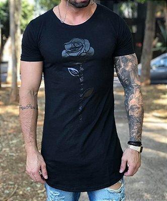 Camiseta Longline Rosa Black - Lacapa