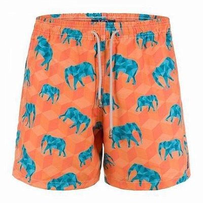 Shorts Elefunte Laranja - Mic Fun