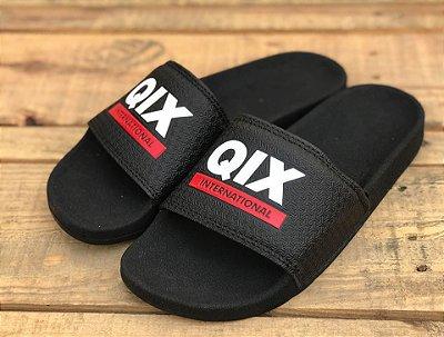 Chinelo Slide Black Red 109016 - Qix Skateboard
