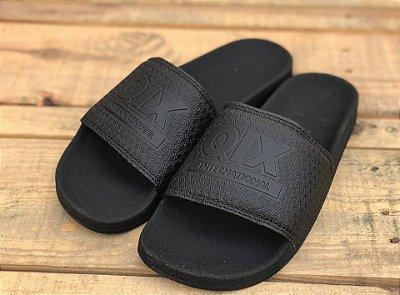 Chinelo Slide Black/Black 109031 - Qix Skateboard