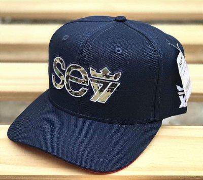 Boné Snapback Camo Marine - Seven Brand