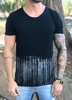 T-shirt Barra Tingida Black - Hibou