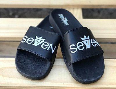Chinelo Slide Seven Black - Seven Brand