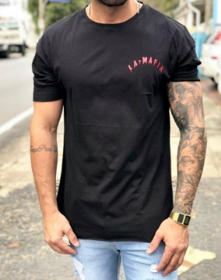 Camiseta Longline Melting Black - La Mafia