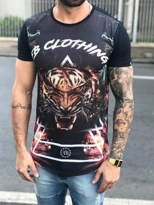 Camiseta Longline Florest Tiger - FB Exclusive Clothing Clothing