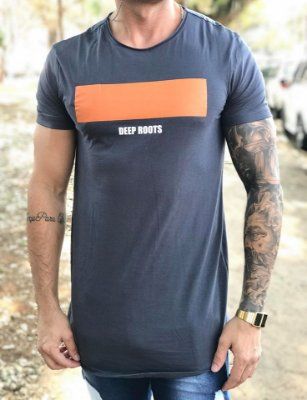 Camiseta Longline Recorte Racer - Deep Roots