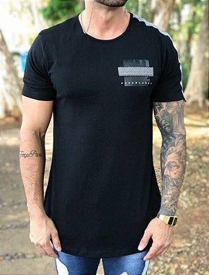 Camiseta Longline Faixa Grid - Dona Blanca