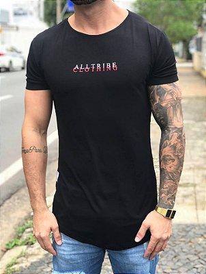 Camiseta Longline Black Roses - Alltribe