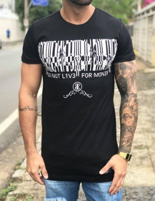 Camiseta Longline Do Not Liv3 Black - The Good Clothing