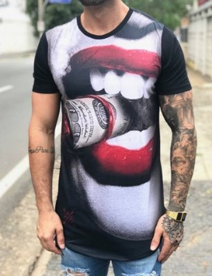 Camiseta Longline Mouth Dolar - Amazing