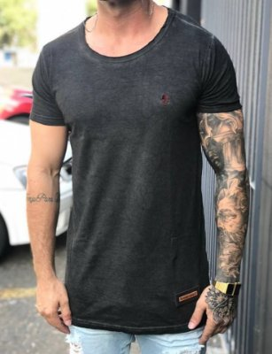 Camiseta Longline Black Basic - John Jones