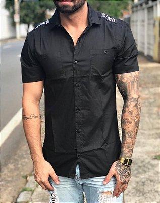 Camisa Manga Curta Sark Black - Hundred Limit