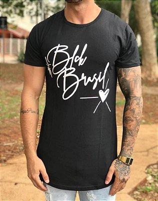 Camiseta Longline Hastag Black - BLCK