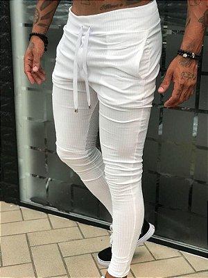 Calça Moletinho White Canelada - Blessed Man