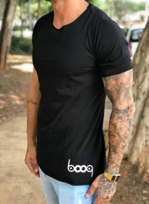 Camiseta Longline Classic Black - Booq For Men