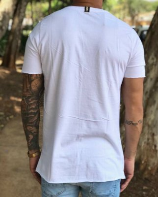 Camiseta Longline Classic White - Booq For Men