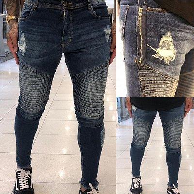 Calça Jeans Skinny Motorcycle - Degrant