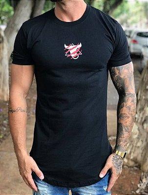 Camiseta Longline Tiger Black - Totanka