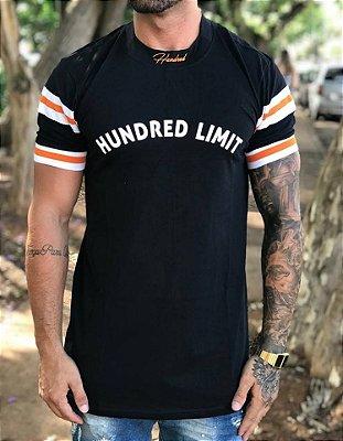 Camiseta Longline Capitan Black - Hundred Limit