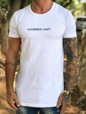 Camiseta Longline Tree White - Hundred Limit