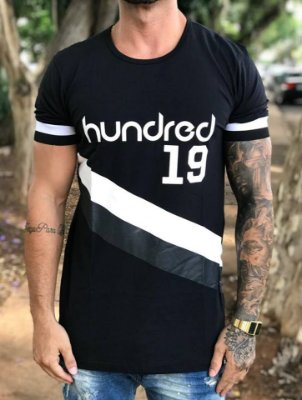 Camiseta Longline MTN Black - Hundred Limit