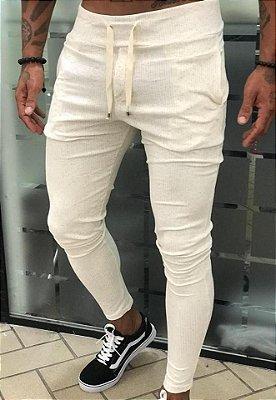 Calça Canelada Creme - Blessed Man
