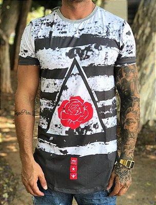 Camiseta Longline Rosa C - Evoque