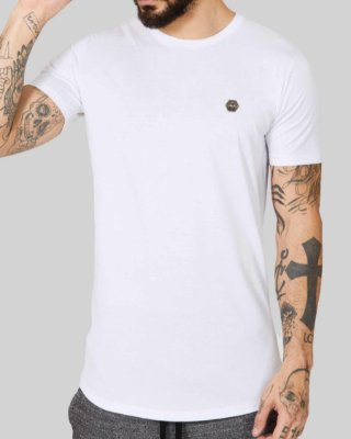 Camiseta Longline Saved By Grace White - Buh