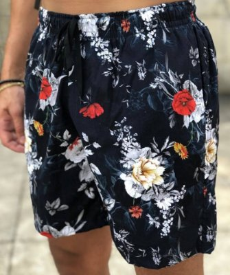Shorts Floral Black - FB Exclusive Clothing