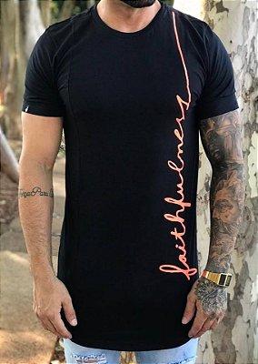Camiseta Longline FaithFulness Fluor Black - Buh