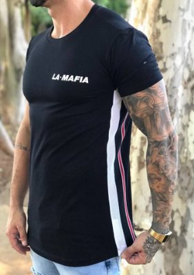 Camiseta Longline Faixa Lateral Two Colors - La Mafia