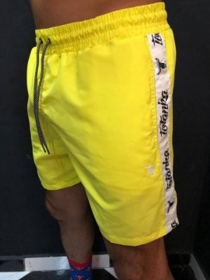 Shorts Beach Neon Yellow Name - Totanka