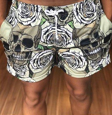 Shorts Moletinho Skull Verde - Evoque