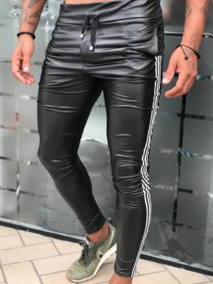 Calça Leather Fake Black - Blessed Man