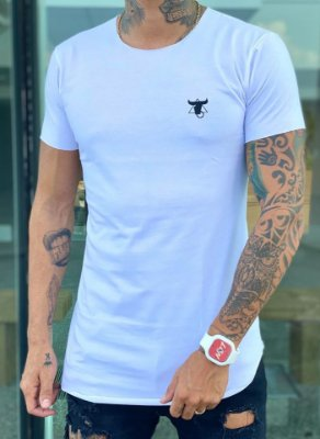 Camiseta Longline Basic White - Totanka