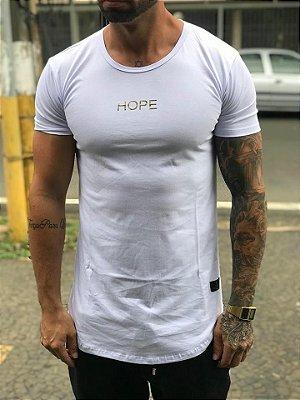 Camiseta Longline Wings White 2 - The Hope