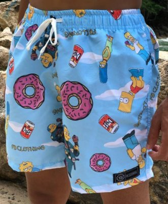 Shorts Beach Simpsons Blue - Fb Clothing