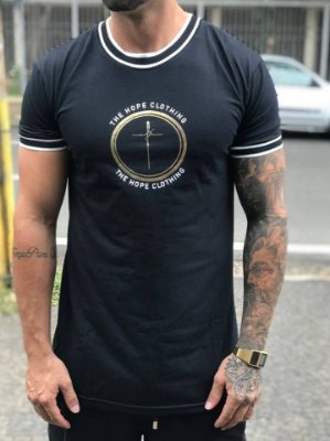 Camiseta Longline Fé Black - The Hope