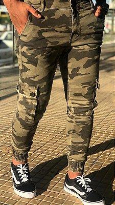 Calça Jogger Camuflado - Codi Jeans