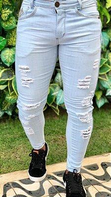 Calça Skinny Destroyed Delavê - Codi Jeans