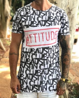 Camiseta Longline Atitude - Austin Club