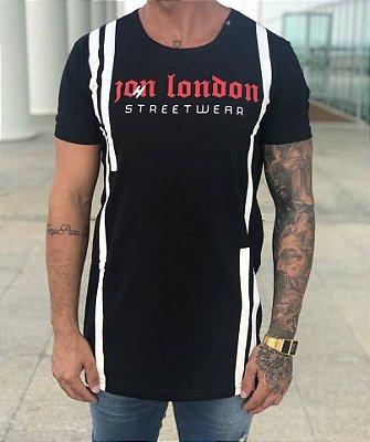 Camiseta Longline Lightning Black - John London