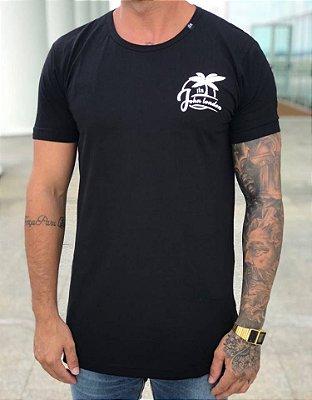 Camiseta Longline Skull Paradise - John London