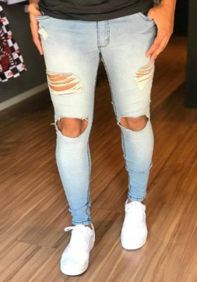 Calça Jeans Skinny Destroyed Clean - Creed Jeans