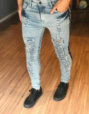 Calça Jeans Skinny Destroyed Two Stones - Effel Culture