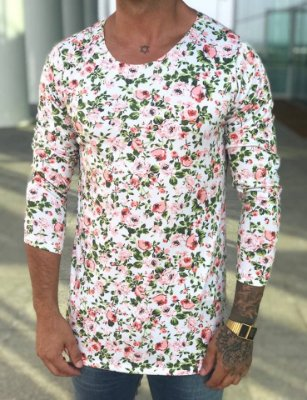Camisa Manga Longa Floral - Exalt Urban