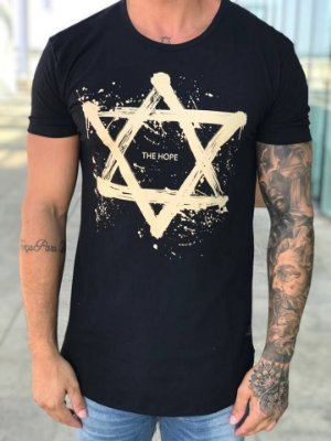 Camiseta Longline Star Black - The Hope