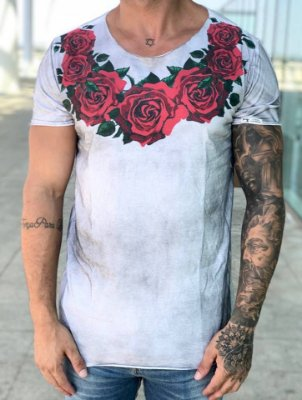 T-shirt Rosas Gola - John Jones