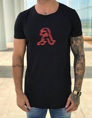 Camiseta Longline Revolt Black - Alltribe